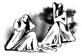 illustration, spectacle sœurs
