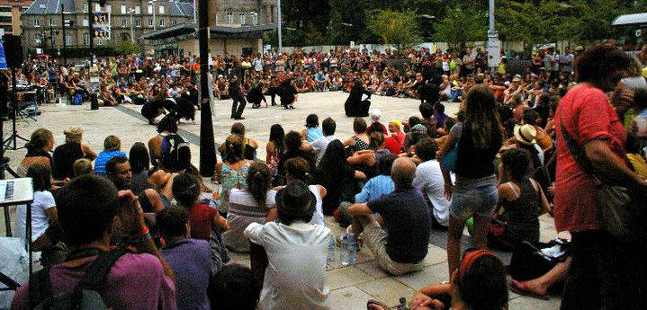 Spectateurs à Aurillac